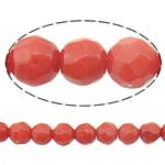 Beads Natyrore Coral, Coral Natyrore, Round, i kuq, 3mm, : 0.5mm, :15.5Inç, 10Fillesat/Shumë,  Shumë