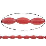 Beads Natyrore Coral, Coral Natyrore, Oval, i lyer, i kuq, 8x4mm, : 0.5mm, :16Inç, 10Fillesat/Shumë,  Shumë