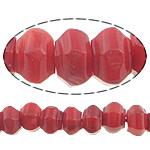 Beads Natyrore Coral, Coral Natyrore, Rondelle, asnjë, i kuq, 9x6mm, : 0.5mm, :16Inç, 10Fillesat/Shumë,  Shumë