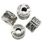 Alloy zink European Clip, Rondelle, Ngjyra antike argjendi praruar, asnjë, , nikel çojë \x26amp; kadmium falas, 9.50x6.50mm, : 3.5mm, 100PC/Qese,  Qese