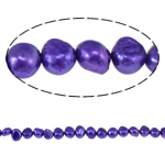 Barok Beads kulturuar Pearl ujërave të ëmbla, Pearl kulturuar ujërave të ëmbla, Shape Tjera, natyror, vjollcë, 6-7mm, : 0.8mm, :14.5Inç,  14.5Inç,