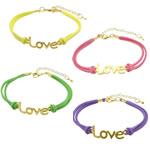 Velvet Bracelets Fashion Cord, Kurrizit Lesh, with Alloy zink, ngjyra të përziera, 39x12x1.5mm, 2mm, : 7Inç, 50Fillesat/Shumë,  Shumë