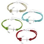 Velvet Bracelets Fashion Cord, Kurrizit Lesh, with Alloy zink, ngjyra të përziera, 34x26x3.5mm, 3mm, :7Inç, 50Fillesat/Shumë,  Shumë