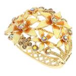 Alloy zink, Lule, ngjyrë ari praruar, me diamant i rremë, asnjë, , nikel çojë \x26amp; kadmium falas, 71x62x60mm, : 7.5Inç, 5PC/Qese,  Qese