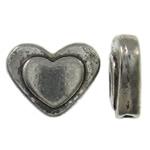 Beads Zink Alloy Zemra, Alloy zink, Zemër, Ngjyra antike argjendi praruar, asnjë, asnjë, , nikel çojë \x26amp; kadmium falas, 10x8x3mm, : 1mm, 1250PC/KG,  KG