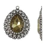 Zink Alloy Glass varëse, Alloy zink, with Xham, Lot, Ngjyra antike argjendi praruar, me diamant i rremë, asnjë, , nikel çojë \x26amp; kadmium falas, 55x71x12mm, : 4mm, 10PC/Qese,  Qese