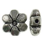 Beads Alloy zink Lule, Ngjyra antike argjendi praruar, asnjë, asnjë, , nikel çojë \x26amp; kadmium falas, 9.50x9.50x4mm, : 1mm, 800PC/KG,  KG