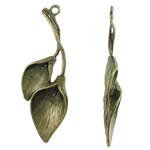 Zink Alloy Peg dorëzani, Alloy zink, Lule, Ngjyra antike bronz i praruar, asnjë, asnjë, , nikel çojë \x26amp; kadmium falas, 13.50x37x5mm, : 1.5mm, 470PC/KG,  KG