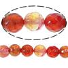 Natyrore kërcitje Beads Zjarri agat, Round, asnjë, faceted, 14mm, : 1.5mm, :14.5Inç, 5Fillesat/Shumë,  Shumë