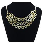 Necklaces Shell, Shell Verdha, with Tunxh, Shape Tjera, ngjyrë platin praruar, asnjë, asnjë, 15x15mm, :22Inç, 3Fillesat/Shumë,  Shumë