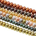 Button Beads ujërave të ëmbla kulturuar Pearl, Pearl kulturuar ujërave të ëmbla, Shape Tjera, i lyer, ngjyra të përziera, 5-9.5mm, : 0.8mm, : 16.5Inç,  KG
