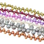 Rajs Beads ujërave të ëmbla kulturuar Pearl, Pearl kulturuar ujërave të ëmbla, Oriz, i lyer, ngjyra të përziera, 6-13mm, : 0.8mm, : 17Inç,  KG