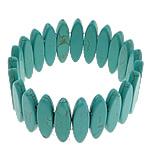 Fashion Bracelets Turquoise, Bruz sintetike, with Thread elastik, Shape Tjera, i lyer, asnjë, aqua gjelbër, 8x31x5mm, :8Inç, 20Fillesat/Shumë,  Shumë