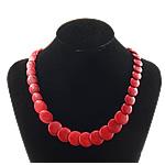Moda Bruz Gjerdan, Bruz sintetike, Shape Tjera, i lyer, asnjë, i kuq, 12-20x12-20x5mm, :19Inç, 10Fillesat/Shumë,  Shumë