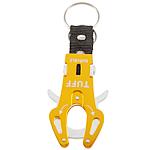 Aluminum Carabiner mbajtëse çelësash, Shape Tjera, pikturë, asnjë, i verdhë, 60x35mm, 40PC/Shumë,  Shumë