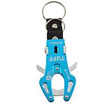 Aluminum Carabiner mbajtëse çelësash, Shape Tjera, pikturë, asnjë, dritë blu, 60x35mm, 40PC/Shumë,  Shumë