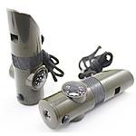 Whistle alumini, ABS plastike, with Cord najlon, Shape Tjera, asnjë, asnjë, Ushtria e gjelbër, 98x30mm, 10PC/Shumë,  Shumë