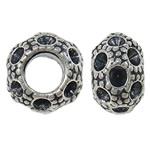 Beads Zink Alloy Vendosja, Alloy zink, Rondelle, Ngjyra antike argjendi praruar, asnjë, asnjë, , nikel çojë \x26amp; kadmium falas, 10x6.5mm, : 5mm, 10PC/Qese,  Qese