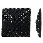 Rrëshirë Cabochon, Katror, asnjë, asnjë, e zezë, 14x3.5mm, 200PC/Qese,  Qese