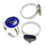 Finger smalt Mood Ring, Tunxh, Shape përziera, ngjyrë platin praruar, humor smalt, asnjë, , nikel çojë \x26amp; kadmium falas, 12-16mm, :6.5, 100PC/Kuti,  Kuti
