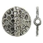 Beads aliazh zink Flat, Round Flat, Ngjyra antike argjendi praruar, asnjë, , nikel çojë \x26amp; kadmium falas, 19x4mm, : 2mm, 310PC/KG,  KG
