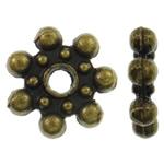 Beads Zink Alloy Spacer, Alloy zink, Lule, Ngjyra antike bronz i praruar, asnjë, asnjë, , nikel çojë \x26amp; kadmium falas, 8.5x2mm, : 1.5mm, 3030PC/KG,  KG