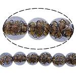 Inner Beads Lampwork Twist, Round, asnjë, kthesë brendshme, vjollcë, 12mm, : 1mm, :10Inç, 5Fillesat/Shumë,  Shumë