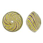 Beads lulëzim Lampwork, Bicone, fryj, shirit, asnjë, 15x10.5mm, : 1-3mm, 100PC/Qese,  Qese