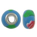 European Beads bizhuteri Polimer balta, Polymer Clay, Rondelle, asnjë, core bronzi të dyfishtë pa karrem, asnjë, 14x9mm, : 5mm, 100PC/Qese,  Qese