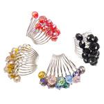 Ring Finger Crystal, Hekur, with Kristal, Shape Tjera, ngjyrë platin praruar, colorful kromuar, ngjyra të përziera, , nikel çojë \x26amp; kadmium falas, 22x34x42mm, :9, 50PC/Kuti,  Kuti