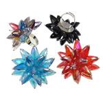 Ring Finger Crystal, Hekur, with Kristal, Shape Tjera, ngjyrë platin praruar, colorful kromuar, ngjyra të përziera, , nikel çojë \x26amp; kadmium falas, 53x45x52mm, :7.5, 50PC/Kuti,  Kuti