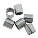 Beads bizhuteri çelik inox, 316 Stainless Steel, Tub, asnjë, asnjë, 2x2mm, : 1.5mm, 2000PC/Qese,  Qese