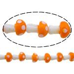Beads dorë Lampwork, këpurdhë, asnjë, asnjë, dy-ton, 13x9mm, : 2mm, :10Inç, 10Fillesat/Shumë,  Shumë