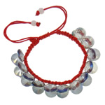 Crystal Shamballa Bracelets, Kristal, Shape Tjera, colorful kromuar, i tejdukshëm, Hije Crystal Bronze, 10x5mm, :7.5Inç, 12Fillesat/Qese,  Qese