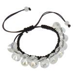 Crystal Shamballa Bracelets, Kristal, Shape Tjera, colorful kromuar, i tejdukshëm, Kristal, 10x5mm, :7.5Inç, 12Fillesat/Qese,  Qese