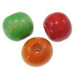 Beads druri, Rondelle, i lyer, ngjyra të përziera, 12x11mm, : 3.5mm, 710PC/Qese,  Qese