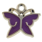 Enamel Acrylic Pendants, Butterfly, UV plating, more colors for choice, 25x22x2.5mm, Hole:Approx 3MM, Sold by PC