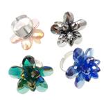 Ring Finger Crystal, Hekur, Shape Tjera, ngjyrë platin praruar, asnjë, ngjyra të përziera, , nikel çojë \x26amp; kadmium falas, 32x35x31mm, :6.5, 50PC/Kuti,  Kuti