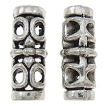 Beads Zink Alloy Tube, Alloy zink, Ngjyra antike argjendi praruar, i uritur, asnjë, , nikel çojë \x26amp; kadmium falas, 7x18mm, : 3mm, 550PC/KG,  KG