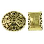 Beads Zink Alloy Vendosja, Alloy zink, Oval Flat, Ngjyra antike ari praruar, asnjë, asnjë, , nikel çojë \x26amp; kadmium falas, 8x11x6.50mm, : 4.5mm, 765PC/KG,  KG