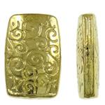 Beads aliazh zink Flat, Alloy zink, Drejtkëndësh, 24K ari praruar, asnjë, asnjë, , nikel çojë \x26amp; kadmium falas, 9.50x14.50x4mm, : 1.5mm, 450PC/KG,  KG