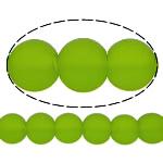 I mbuluar me brymë Lampwork, Round, asnjë, e gjelbër, 10mm, : 2mm, :11Inç, 10Fillesat/Shumë,  Shumë