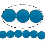 I mbuluar me brymë Lampwork, Round, asnjë, blu, 10mm, : 2mm, :11Inç, 10Fillesat/Shumë,  Shumë