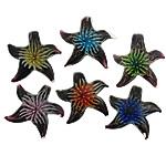 Pendants Inner Lampwork Lule, Yll deti, asnjë, lule e brendshme, ngjyra të përziera, 46x48x12mm, : 9mm, 50PC/Shumë,  Shumë
