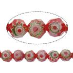 Glass Beads Chevron, Round, asnjë, 8mm, : 1.5mm, : 14Inç, 10Fillesat/Shumë,  Shumë