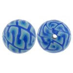 Beads polimer balta, Round, asnjë, asnjë, multi-colored, 11mm, : 1.5mm, 100PC/Qese,  Qese