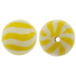 Beads polimer balta, Round, asnjë, asnjë, dy-ton, 11mm, : 1.5mm, 100PC/Qese,  Qese