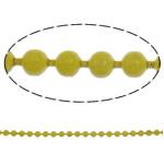 Zinxhiri Iron Ball, Hekur, Shape Tjera, electrophoresis, i verdhë, , nikel çojë \x26amp; kadmium falas, 1.5mm, : 100m,  Qese