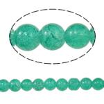 Glass Beads kërcitje, Xham, Round, asnjë, jeshile të errët, 10mm, : 1.5mm, : 31.4Inç, 10Fillesat/Qese,  Qese