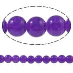 Glass Beads kërcitje, Xham, Round, asnjë, vjollcë, 10mm, : 1.5mm, : 31.4Inç, 10Fillesat/Qese,  Qese